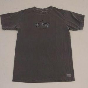 Life is Good Motorcycle Tee Gray T Shirt Soft Peru